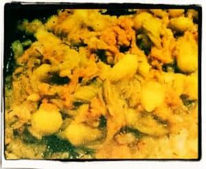 Quesadillas de flor de zuchini